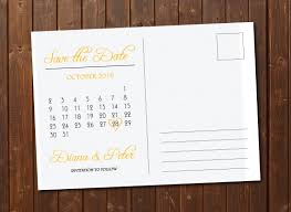Post Card Invitations On Sale Save The Date Calendar Template Postcard Gold U0026 White