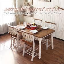Dining Table Store Kagu Mori Rakuten Global Market Seat Dining Table Set Antique