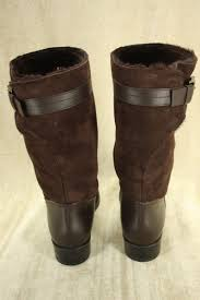 womens leather motorcycle riding boots tod u0027s boots tod u0027s gomma brown mid calf riding boots sz 41 11b us