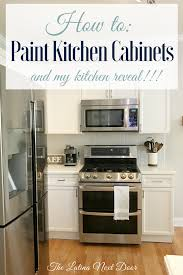 how to paint kitchen cabinets the latina next door