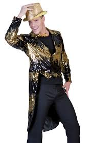 Glitter Halloween Costumes Glitter Tailcoat Gold Costume Sm U0026 Halloween Costumes