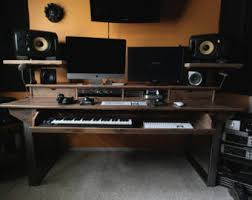 Recording Studio Desks Midsize Modern Wood Recording Studio Desk For Composer