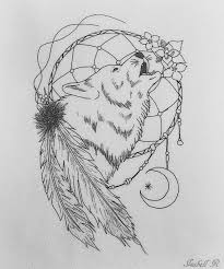 25 dreamcatcher wolf designs images and pictures wolf