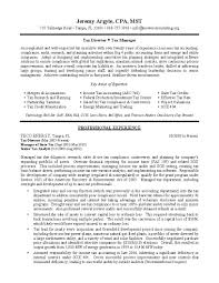 Sample Resume For Manager by Tax Director Sample Resume Professional Resume Writing Services