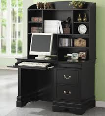 Black Computer Desk With Hutch by Page Title