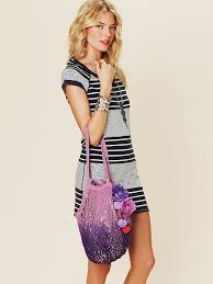 free people shimmering beach bag in purple lyst