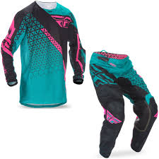 fly motocross gear fly racing kinetic trifecta pant jersey black teal pink u2013 indian