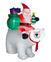 gemmy airblown santa 6 lighted polar
