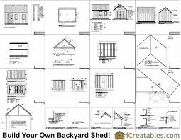 Free House Plans With Material List 12x16 Cape Cod Style Shed Plans Icreatables