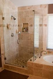 Master Bathroom Images by Master Bath With Granite Countertops Stand Up Shower With A Shelf