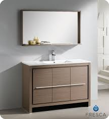 48 bathroom mirror fresca allier 48 modern bathroom vanity grey oak finish free