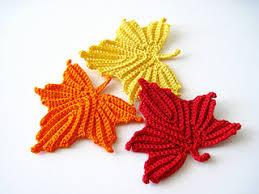 amigurumi leaf pattern ravelry maple leaves applique crochet pattern pattern by