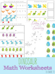 free dinosaur math worksheets 15 page pack free homeschool deals