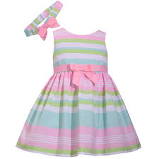 pattern dress baby girl bonnie jean sleeveless stripe dress baby girls jcpenney