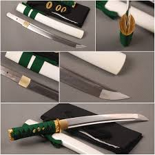 Japanese Folded Steel Kitchen Knives - fully handmade folded steel japanese tanto tang samurai sword