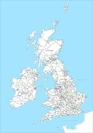 Map Of England Cities by Editable Map Of Britain And Ireland With Cities And Roads Maproom