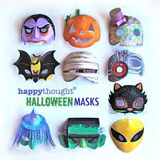 10 super spooky printable halloween masks