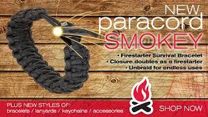 fire survival bracelet images Fire starter paracord personal bracelet 550 lbs rated jpg