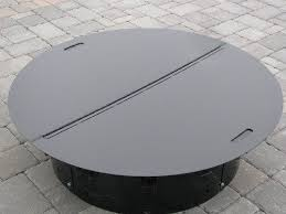 Outdoor Firepit Cover Spherical Metallic Fireplace Pit Metal Pit Cover To Do Diy