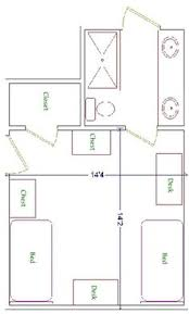 Ucla Housing Floor Plans A Floor Plan For A Double Room In Troy University U0027s Hillcrest