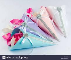 satin ribbon bows petals in confetti cones with satin ribbon bows for wedding