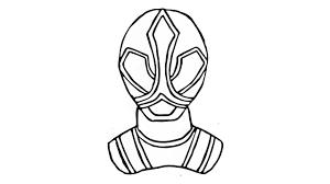 como desenhar jayden power rangers super samurai vermelho