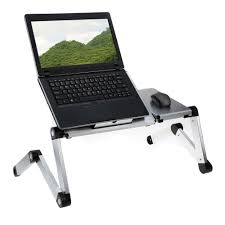 Laptop Desk Portable by Adjustable Aluminum Notebook Stand Folding Laptop Adjustable