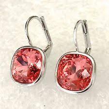 sheena pierced earrings swarovski rhodium fashion earrings ebay