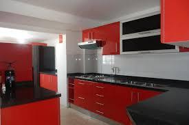 unique red white and black kitchen designs taste