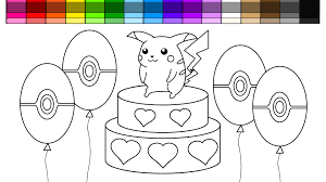 learn colors for kids and color pikachu pokemon coloring pages
