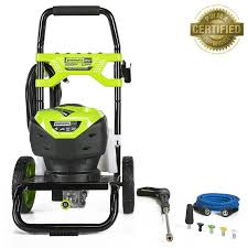 wall mount electric pressure washer shop greenworks 2200 psi 1 3 gallon gpm cold water electric