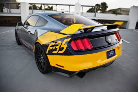 mustang modified ford brings under the hammer 2015 mustang f 35 lightning ii edition