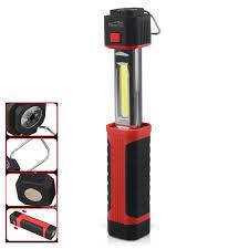 battery powered work lights cob led flashlight battery power cing work light magnetic torches