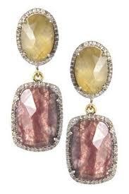 rivka friedman earrings rivka friedman 18k gold clad organic simulated diamond bezel