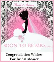 for bridal shower congratulation messages bridal shower