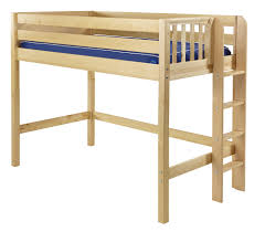 Maxtrix Mid Loft Bed W Straight Ladder ON END Twin Size - Maxtrix bunk bed