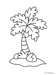 coloring pictures of a palm tree palm trees coloring pages twezgo info