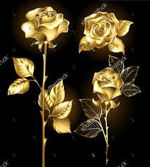 gold roses wallpaper set of gold shining roses retro pattern for the