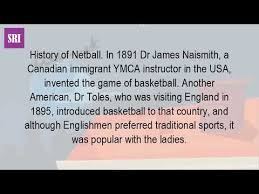 where did netball originally come from