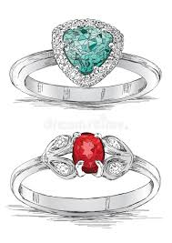 diamond ring jewelry sketch vector illustration stock vector