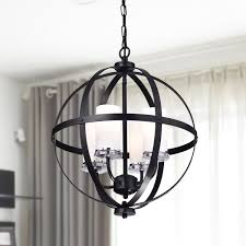 Glass Orb Chandelier Benita Chrome Glam Orb 5 Light Iron Chandelier Free Shipping