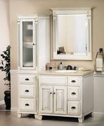 Upper Cabinets For Bathrooms Bathroom Vanity With Upper Cabinets - Antique white bathroom linen cabinets