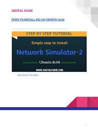 ubuntu network install tutorial quick steps to install ns2 on ubuntu 16 04