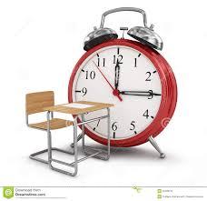 alarm clock with desk stock photo image 55498190
