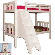 topaz twin twin bunk bed with stairs