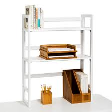 Desk Hutch Bookcase White Solid Wood Folding Hutch The Container Store