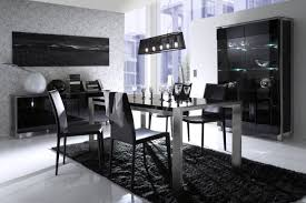 Black And White Dining Room Decorating Ideas Dining Room White And Black Modern Sets Blueskyfarms