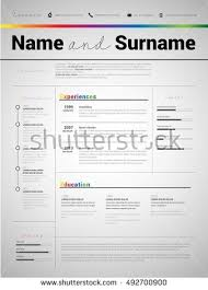 Application Resume Template Resume Minimalist Cv Resume Template Simple Stock Vector 492701014