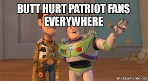 Patriotism Patriotism Everywhere Buzz And Woody Meme - butt hurt patriot fans everywhere buzz and woody toy story
