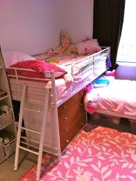 bedroom girls metal ikea bunk bed with stairs and pink bedroom